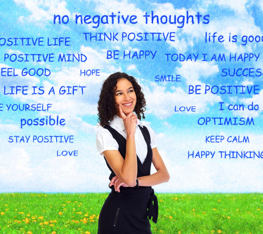 positive thought woman